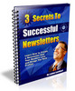 Thumbnail 3 Secrets to Successful Newsletters PLR