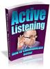 Thumbnail Active Listening - How to Communicate Better PLR