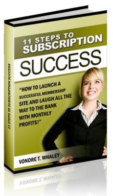 Product picture 11 Steps to Subscription Success (PLR)