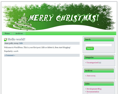 Product picture 12 Wordpress Christmas Themes (PLR)