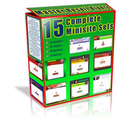 Product picture 15 Minisite Templates (PLR)