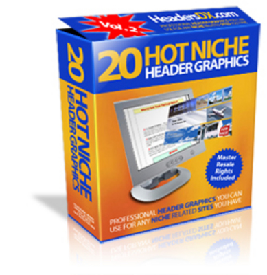 Product picture 20 Hot Niche Header Graphics V PLR