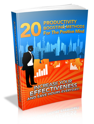 Product picture 20 Productivity Boosting Methods for the Positive Mind PLR