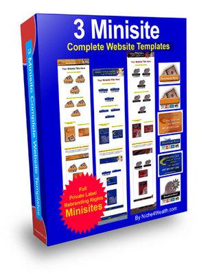 Product picture 3 Minisite Templates (PLR)