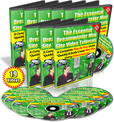 Product picture Essential Dreamweaver Mini-Site Video Tutorials (PLR)