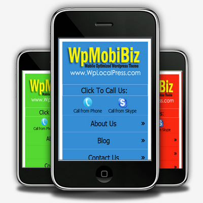 Product picture Wordpress Mobile Theme With PLR