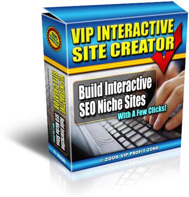 Product picture VIP Interactive Site Creator (PLR)